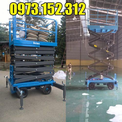 Thang nâng người 6m( xe thang nâng cắt kéo)